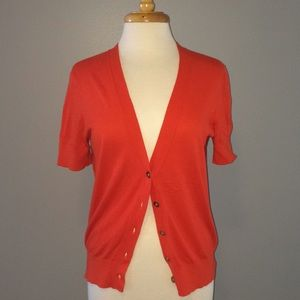 Women's Cardigan Short Sleeve Sweater Orange on Poshmark